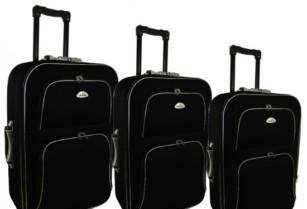 Cestovní kufry,sada 3 kusů,černé
