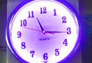 Nástěnné hodiny NEON – svítící TG377B