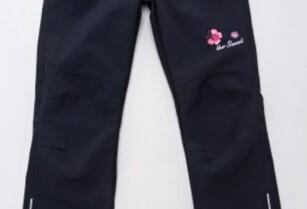 Dívčí softshellové kalhoty bez podšivkou 116-146